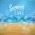 spiaggia · tropicale · estate · tempo · poster · vettore - foto d'archivio © ildogesto
