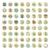 léger · ligne · icônes · industrielle · vecteur · eps10 - photo stock © ildogesto