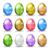 conjunto · vetor · ovos · de · páscoa · páscoa · ovo · vermelho - foto stock © ildogesto