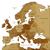 brown map of europe stock photo © ildogesto