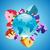 globe with alphabet of colorful rocks stock photo © ildogesto