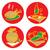 objecten · keuken · geïsoleerd · witte · voedsel - stockfoto © ildogesto