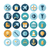 flat design icons for industrial stock photo © ildogesto