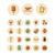 thin line icons for food and drinks stock photo © ildogesto