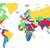 multicolored detailed world map stock photo © ildogesto