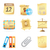 iconen · man · kantoor · ingesteld · vier · vergadering - stockfoto © ildogesto