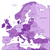 violet map of europe stock photo © ildogesto