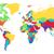 mundo · arco-íris · branco · mapa · do · mundo · negócio · ilustração - foto stock © ildogesto