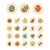 gyümölcsök · zöldségek · vonal · háló · ikonok · étel - stock fotó © ildogesto