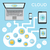 Cloud computing infographics stock photo © ildogesto