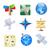 földgömb · világtérkép · zöld · ikonok · környezeti · ikon · gyűjtemény - stock fotó © ildogesto