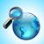 vergrootglas · wereld · aarde · wereldbol · illustratie · groene - stockfoto © ildogesto