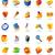 realistic icons set for office themes stock photo © ildogesto