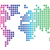 dünya · gökkuşağı · beyaz · dünya · haritası · harita · merkezi - stok fotoğraf © ildogesto