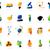 ícones · químico · lab · vidro · educação · assinar - foto stock © ildogesto