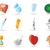 icons for health and medicine vector illustration stock photo © ildogesto