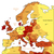 orange map of europe stock photo © ildogesto