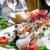 新鮮な · チキンサラダ · トマト · チーズ · 油 · ディナー - ストックフォト © ilolab