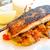 ızgara · somon · pirinç · mutfak · yemek · domates - stok fotoğraf © ilolab