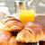 koffie · sap · croissants · ontbijt · sinaasappelsap · bessen - stockfoto © ilolab