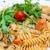 İtalyan · et · sos · makarna · tablo · yaprak - stok fotoğraf © ilolab