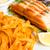вкусный · пасты · лосося · пластина - Сток-фото © ilolab