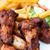 sıcak · tavuk · kanatlar · tepsi · gıda - stok fotoğraf © ilolab