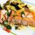 grelhado · salmão · cozinha · francesa · prato · tomates · peixe - foto stock © ilolab