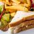 сэндвич · куриные · сыра · картофель · фри · картофель - Сток-фото © ilolab