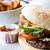 американский · сыра · Burger · свежие · Салат · продовольствие - Сток-фото © ilolab
