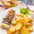 szakács · paprikák · marhahús · filé · asztal · fűszer - stock fotó © ilolab