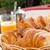 свежие · круассан · апельсиновый · сок · синий · ткань · Кубок - Сток-фото © ilolab