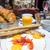 reggeli · kávé · croissantok · asztal · narancs · csésze - stock fotó © ilolab