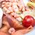 świeże · owoce · morza · Sałatka · wędzony · łosoś · ryb · liści - zdjęcia stock © ilolab