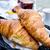 reggeli · kávé · croissantok · asztal · csésze · eszik - stock fotó © ilolab