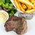sappig · biefstuk · rundvlees · vlees · tomaat - stockfoto © ilolab