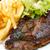 сочный · стейк · говядины · мяса · Салат · картофель · фри - Сток-фото © ilolab
