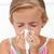 女の子 · インフルエンザ · 鼻をかむ · 春 · 手 · 顔 - ストックフォト © ilona75