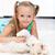küçük · kız · oynama · köpek · ev · kız · yüz - stok fotoğraf © ilona75