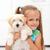 мало · собачка · счастливым · девочку · ПЭТ - Сток-фото © ilona75