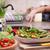 nina · tazón · hortalizas · mesa · nina - foto stock © ilona75