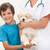 Boy and his beloved dog at the vet stock photo © ilona75