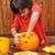 fiú · elfoglalt · sütőtök · halloween · arc · otthon - stock fotó © ilona75