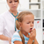 coughing little girl on health checkup stock photo © ilona75