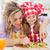 meisje · moeder · keuken · eten · vers · fruit · mooie - stockfoto © ilona75