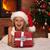 meisje · christmas · aanwezig · gelukkig · leggen · brand - stockfoto © ilona75