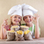 kids with chef hats and pasta varieties   traditional food stock photo © ilona75