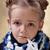 little · girl · vermelho · olhos · gripe · mão · olho - foto stock © ilona75