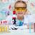 jonge · student · experiment · elementair · wetenschap · klasse - stockfoto © ilona75