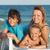 mutlu · kadın · çocuklar · rahatlatıcı · güverte · sandalye - stok fotoğraf © ilona75